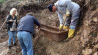 Bodrum'da selin ardından lahit ortaya çıktı